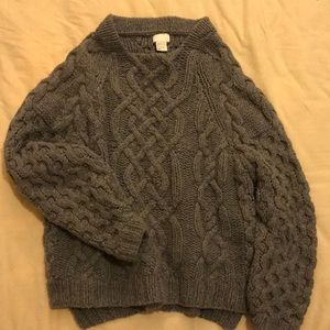 Cozy wool grey textured H&M sweater